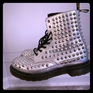 Dr. Marten silver spikes (like new)